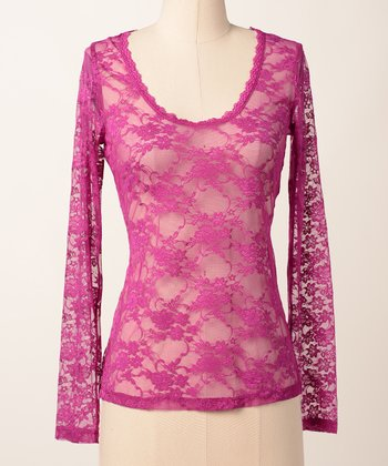 Wilda Lace Lover Long-Sleeve Tee