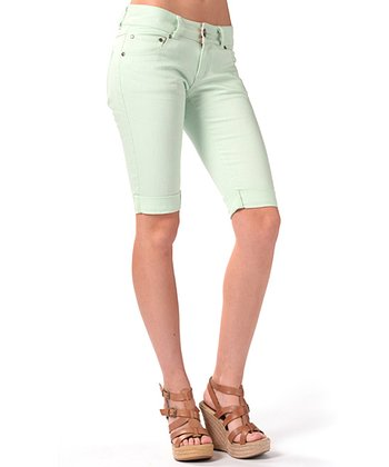 Light Aqua Highway One Bermuda Shorts