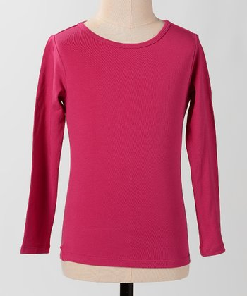 Cherry Long-Sleeve Tee - Girls