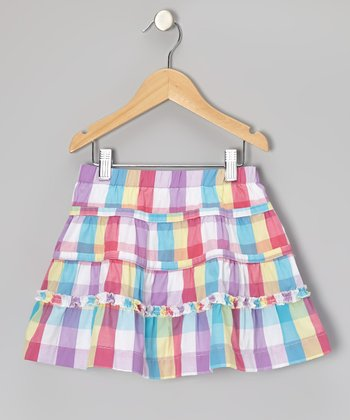 Pink Field Day Skirt - Girls