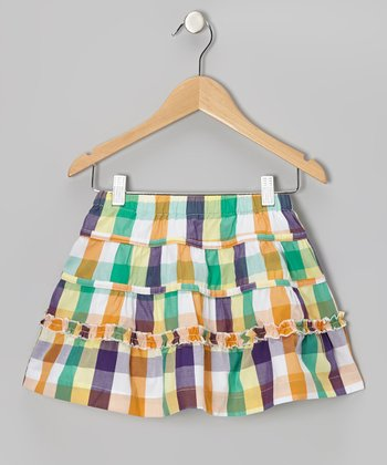 Yellow Field Day Skirt - Girls