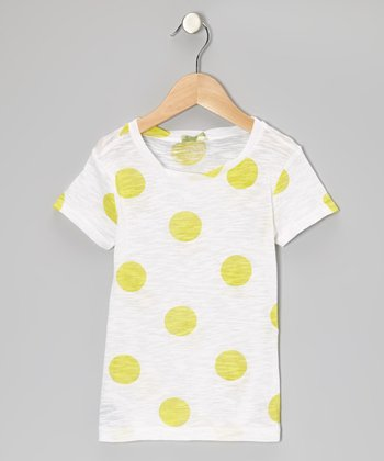 Pineapple Polka Dot Tee - Girls
