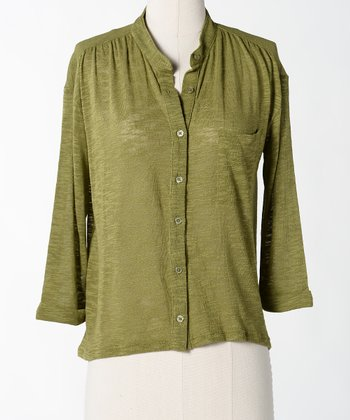 Calla Morse Code Button-Up