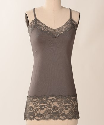 Gunmetal Double Lace Camisole