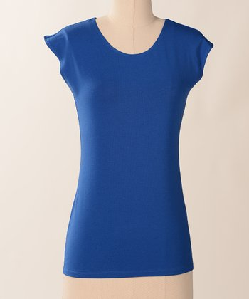Surf Favorite Cap-Sleeve Scoop Neck Tee