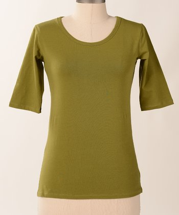 Calla Favorite Half-Sleeve Scoop Neck Tee