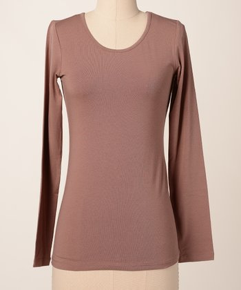 Brownie Favorite Long-Sleeve Scoop Neck Tee