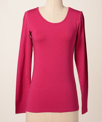 Ceris Favorite Long-Sleeve Scoop Neck Tee