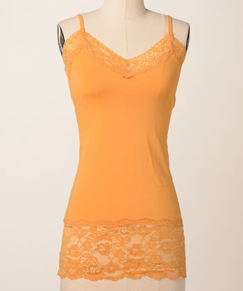 Bright Gold Double Lace Camisole