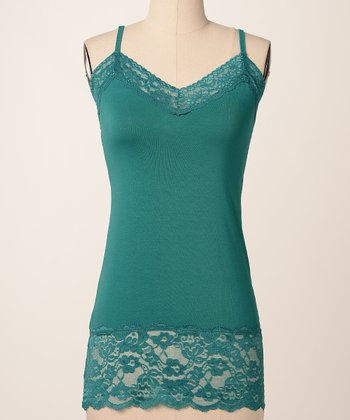 Harbor Blue Double Lace Camisole