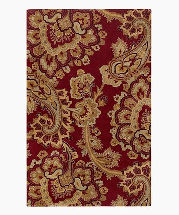 Ruby & Gold Sea Wool Rug