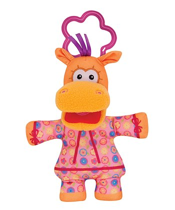 Pink Rattlin Sweet Pea Sue Plush Stroller Toy