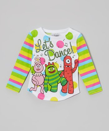 White Yo Gabba Gabba! 'Let's Dance!' Tee - Toddler