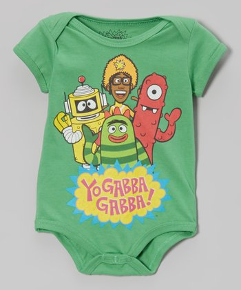 Green 'Yo Gabba Gabba!' Bodysuit - Infant