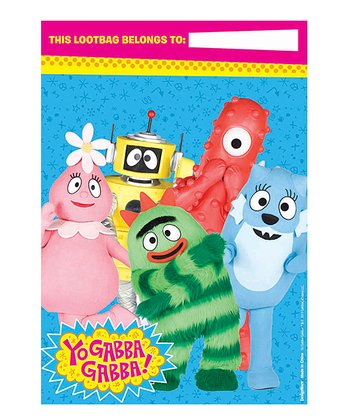 Yo Gabba Gabba! Folded Loot Bag - Set of 16