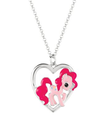 Silver Pinkie Pie Heart Pendant Necklace