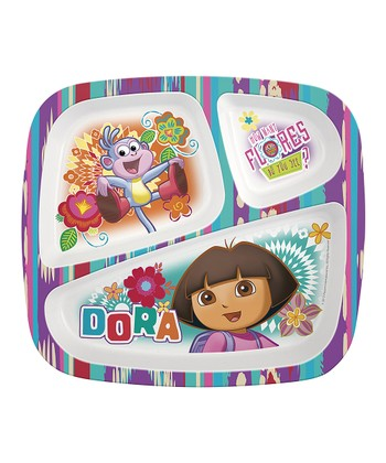 Dora the Explorer Three-Section Plate