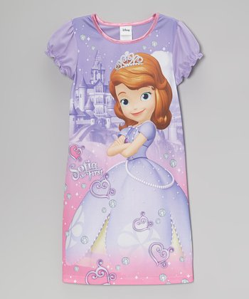 Purple & Pink Sofia the First Nightgown - Girls