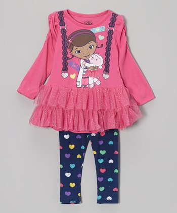 Pink Doc McStuffins Skirted Tunic & Leggings - Toddler & Girls