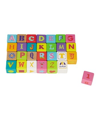 Boikido Wooden ABC Cube Set