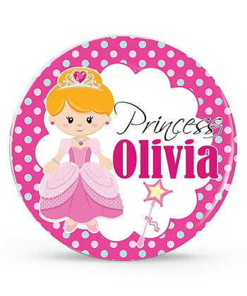 Blonde Princess Personalized Plate