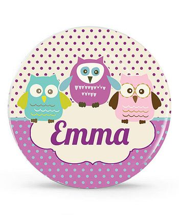Purple Owl Personalized Plate