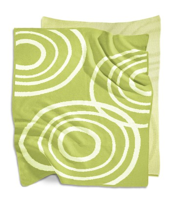 Lawn Green Reversible Organic Blanket