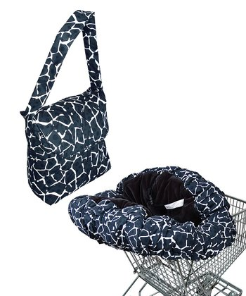 Black Giraffe Deluxe Shopping Cart Cover