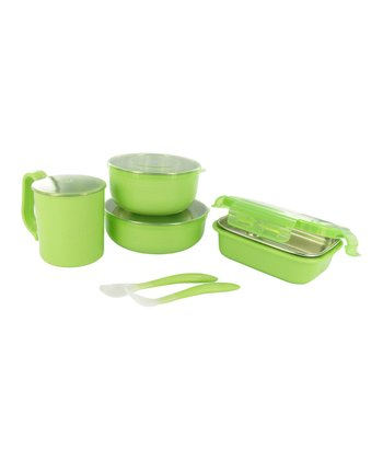 Onbi Baby Green Travel Feeding Set