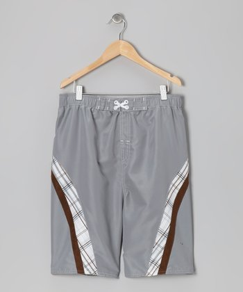 Brown & Tan Boardshorts - Boys