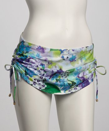 Cool Bohemian Blooms Skirted Bikini Bottom