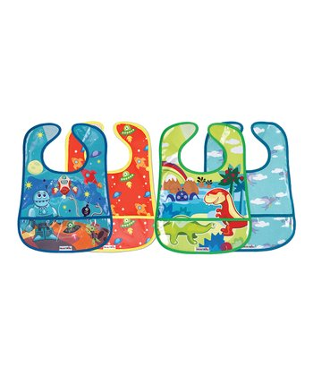Primary Crumb Catcher Bib Set
