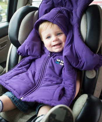 Purple CozyWoggle Car Seat Coat - Infant, Toddler & Kids
