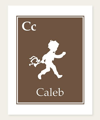 Brown Trumpet Personalized Print