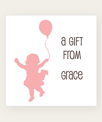 Blossom Balloon Personalized Gift Label - Set of 40