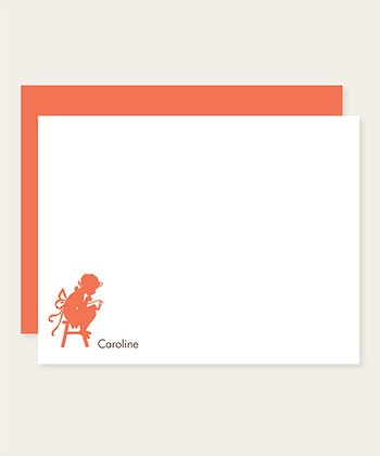 Papaya Reading Personalized Note Card Set
