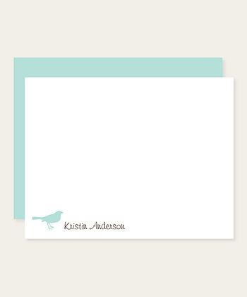 Bird Personalized Note Card Set
