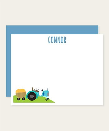 Tractor Personalized Note Card Set