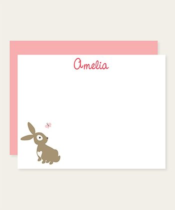Bunny Personalized Note Card Set