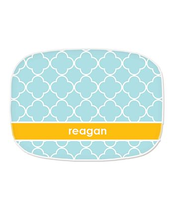 Pool Quatrefoil Personalized Platter