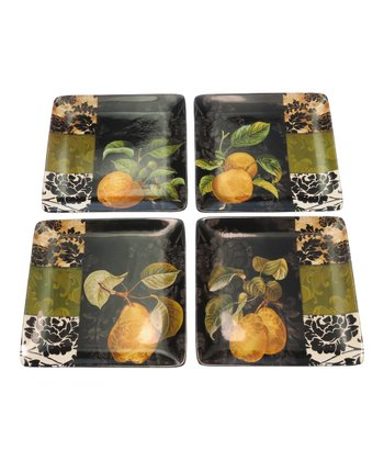 Damask Fruit 8.25'' Dessert Plate - Set of Four