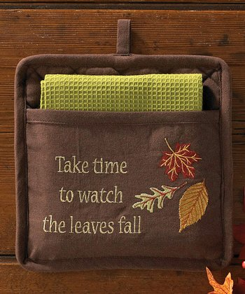 'Take Time to Watch' Pocket Pot Holder Set