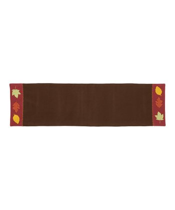 Autumn Leaves Applique Table Runner