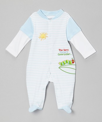 Blue Caterpillar Footie - Infant