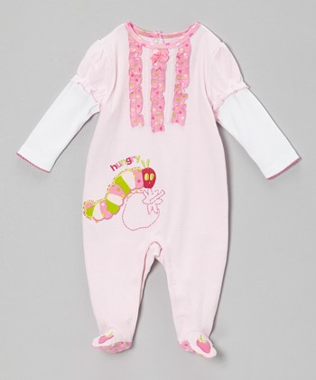 Pink Caterpillar Footie - Infant