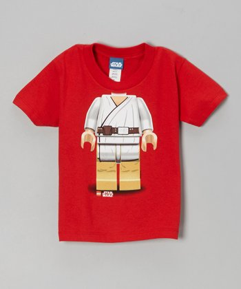 Red Lego Luke Skywalker Tee - Toddler