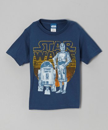 Blue C3PO & R2D2 Tee - Infant & Toddler