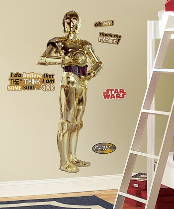 Star Wars C-3PO Peel & Stick Giant Wall Decal