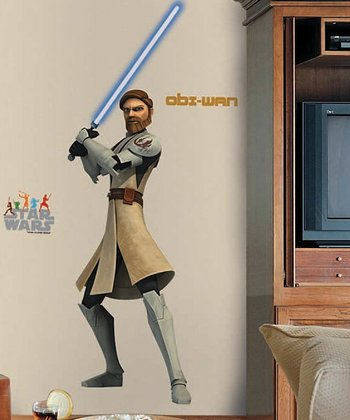 Star Wars Clone Wars Obi-Wan Peel & Stick Giant Wall Decal