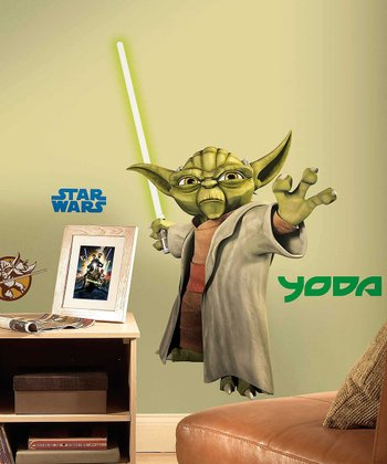 Star Wars Clone Wars Yoda Peel & Stick Giant Wall Decal